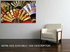Canvas Print Picture Traditional  Japanese Fans/Stretched ready to hang