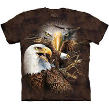 FIND 14 EAGLES T-Shirt The Mountain USA Bald Eagle Bird Face Collage S-3XL NEW
