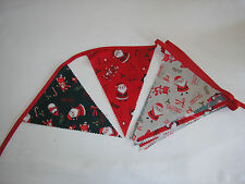 Hand Made 10ft 13 Flag or 6ft 10 Flag Christmas Fabric Bunting Garland (friends)