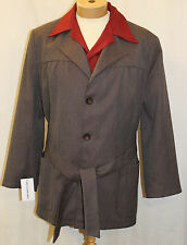 1940s 50s Mans Mens Hollywood sports Jacket, Swing Jive Lindy Hop Burgundy Grey