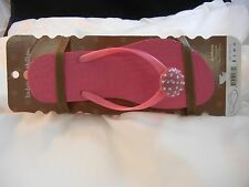 Lindsay Phillips - Snap Shoes - 5100 - Jordi Flip Flops - Pink - NEW