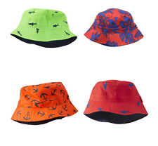 Oshkosh Boys Reversible Bucket Hat Sun Hat - UPF +50 Protection 12-24M 2-4T NWT
