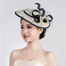 Kentucky Derby Flower Feather Fascinator Hat Clip Cocktail Wedding Party Hot