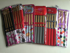 S&W Knitting Needle Sets & Cases - Assorted Designs - Bamboo Needles Set