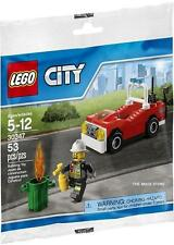 LEGO CITY POLICE - FIRE CAR POLYBAG FIGURE + FREE GIFT - FAST - SEALED