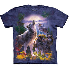 WOLFPACK MOON T-Shirt The Mountain Wolf Pack Howling Wolves S-3XL NEW