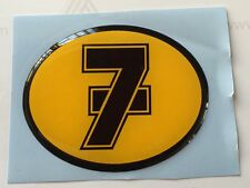 Barry Sheene 3D Gel Sticker oval no 7 logo  bubble sticker 06cm x 04cm