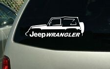 Jeep Wrangler 4x4 Off Road Vinyl Cut Sticker Decal NEW FREE SHIPPING