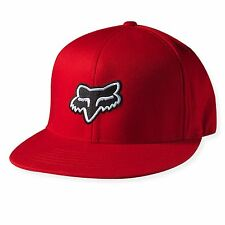 NEW FOX THE STEEZ 210 FITTED HAT RED FLEX FIT CAP HAT LID MENS ADULT GUYS