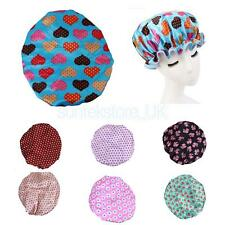 Waterproof Shower Cap Bath Shower Reusable Satin Hair Cover Spa Salon Care