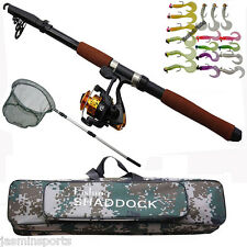 2.4M Portable Telescopic Lightweight Fishing Rod and Spinning Reel Combos Set