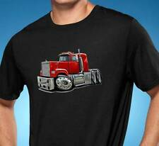 Mack Superliner Semi Truck Cartoon Tshirt NEW FREE SHIPPING