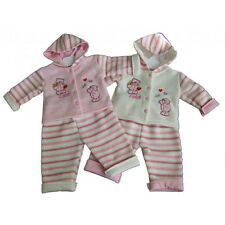 BABY GIRLS TWO PIECE OUTFIT PINK OR CREAM 0-3, 3-6, 6-9 MONTHS BN