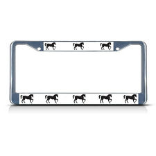HORSE HORSES Metal License Plate Frame Tag Border Two Holes
