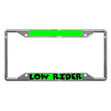 LOW RIDER Metal License Plate Frame Tag Holder Four Holes