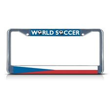 CZECH REPUBLIC SOCCER TEAM Metal License Plate Frame Tag Border Two Holes
