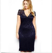 FORMAL DRESS BODYCON PLUS SIZE EVENING PARTY CUT SEXY LADY COCKTAIL WOMEN LACE