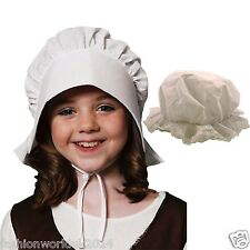 NEW GIRLS FANCY DRESS CHILD MOP HAT CHILD VICTORIAN BONNET HAT FANCY DRESS
