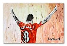 LIVERPOOL LEGEND STEVEN GERRARD CANVAS PRINT - READY TO HANG + FREE DELIVERY