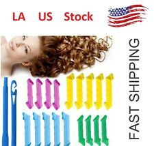 40PC 20in Newly Magic Hair Curlers Curl Former Spiral Ringlets Leverage Rollers