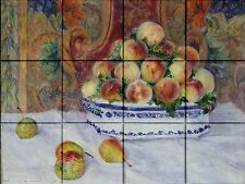 Ceramic Tile Mural Backsplash Fruit Bowl Wall Decorative Design #1505