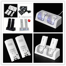 Dual Charger Station 2x2800mAh Rechargeable Battery for Wii Remote Control NEW M
