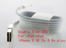 Double Side USB data Sync 8Pin charger charging Cable For iPad iPad mini iPod