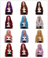 Long Natural Women full Wavy Curly hair Cosplay fluffy Wig Halloween party Wigs