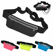 Unisex Waist Belt Bum Bag Jogging Sports Travel Pouch Keys Mobile Money Wallet