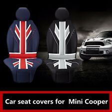 Luxury Uk Flag Car Seat covers Full PU leather For Mini Cooper R55 R56 R57 R58