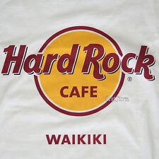 HARD ROCK CAFE WAIKIKI HONOLULU HAWAII  T-SHIRT TEE Classic LOGO Men's Limited