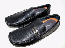 30159 DELLI ALDO ITALIAN STYLE CASUAL DRESS SHOES BLACK  MEN SIZE