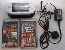 SONY PLAYSTATION PSP Handheld Games Console PSP-1003 with Charger & Games Bundle