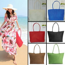 women Ladies fashion grass Shoulder bag beach handbag purse Straw bag