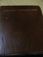 ROYAL MAIL PRESENTATION PACK ALBUM/FOLDER WITH 20 PRESENTATION PACKS