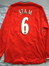 Jaap Stam Manchester United Shirt - Name & Number, Long Sleeved, 2001-2002