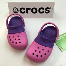 "Crocs "" Electro II "" Girl Clogs in Party Pink/ Purple"