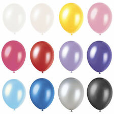 "Balloons 12"" Pearlised Latex Helium Quality Party Weddings Birthdays 12 Colours"