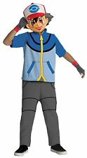 POKEMON TRAINER ASH BOYS CHILD OFFICIAL CARTOON HALLOWEEN DELUXE COSTUME W/ MASK