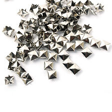 Hot Sell Square Pyramid Rivet Metal Studs Spots Spikes Punk Leathercraft  DIY