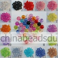 4-37MM Acrylic Transparent Round Beads Crystal Round Loose Spacer Beads Charms