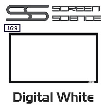Screen Science Digital White 16:9 Fixed Projection Screen