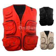 Mesh Fly Fishing Vest Multi Pocket Sleeveless Jacket for Men Height 175-195cm