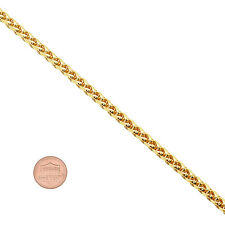 Men's 5mm 14K Yellow Gold-Plated Wheat Chain Necklace with Lobster Clasp