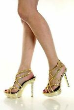 SALE! CLEARANCE! Sexy Strappy Bejeweled Metallic Party Shoes Natalie NIB