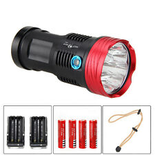 20000LM 9x CREE XM-L T6 LED Flashlight Torch Tactical Camping Hunting 18650 Lamp