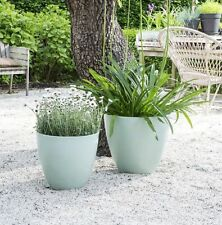 Garden Planter Plant Flower Plastic Pot for Indoor & Outdoor Use - 3 Colours