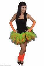Neon Tutu Skirt Set Hen Party 80's Fancy Dress Halloween