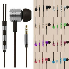 Headphone Stereo 3.5mm Remote Mic For iPhone Samsung HTC In-Ear Earphone