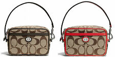 Coach Park Signature Khaki Multi East West Pouch Retail $98.00